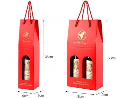 覆膜红酒盒